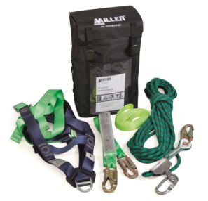 Roofers Backpack With Kernmantle Rope And Lanyard Staysafe