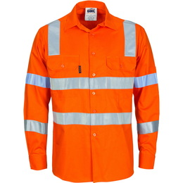 Cotton lightweight shirt with reflective tape staysafe for Hi vis shirts with reflective tape